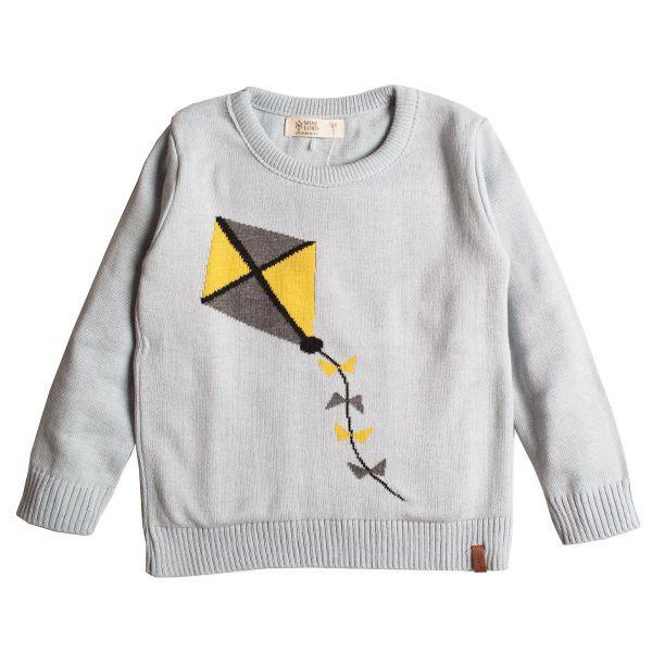 Casaco suéter infantil tricô masculino pipa
