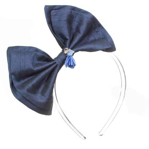 Tiara infantil laço azul acrílico