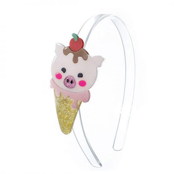 Tiara infantil para cabelo sorvete acrílico