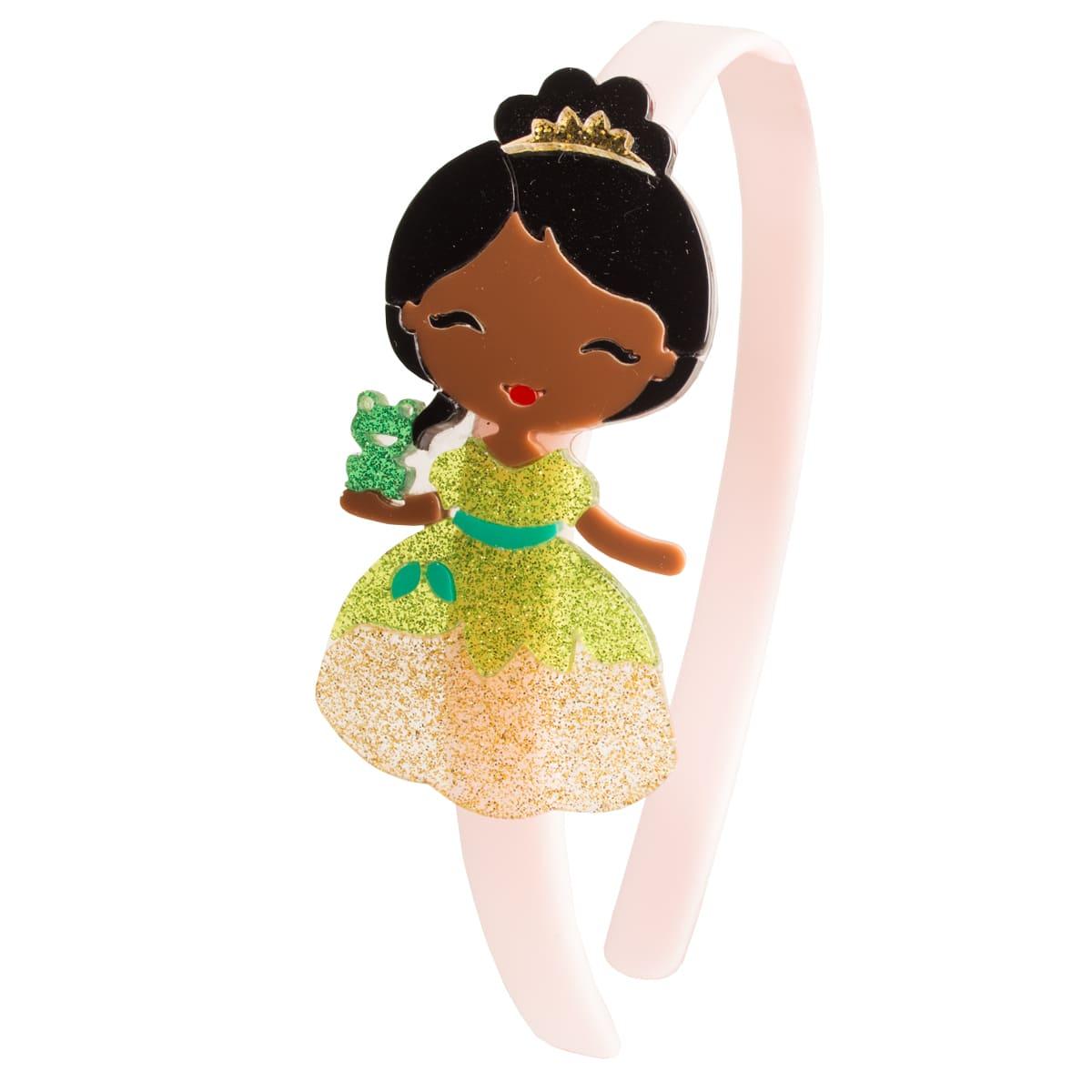 Tiara infantil princesa negra acrílico