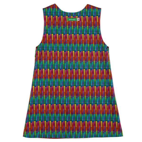 Vestido infantil dupla-face coração infinito