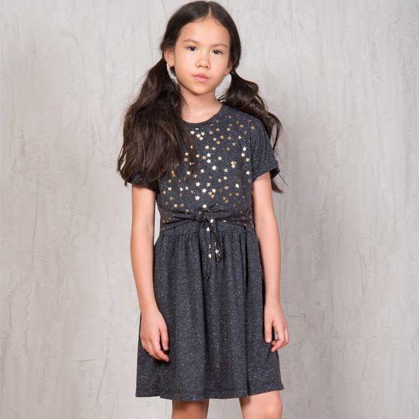 Vestido infantil golden