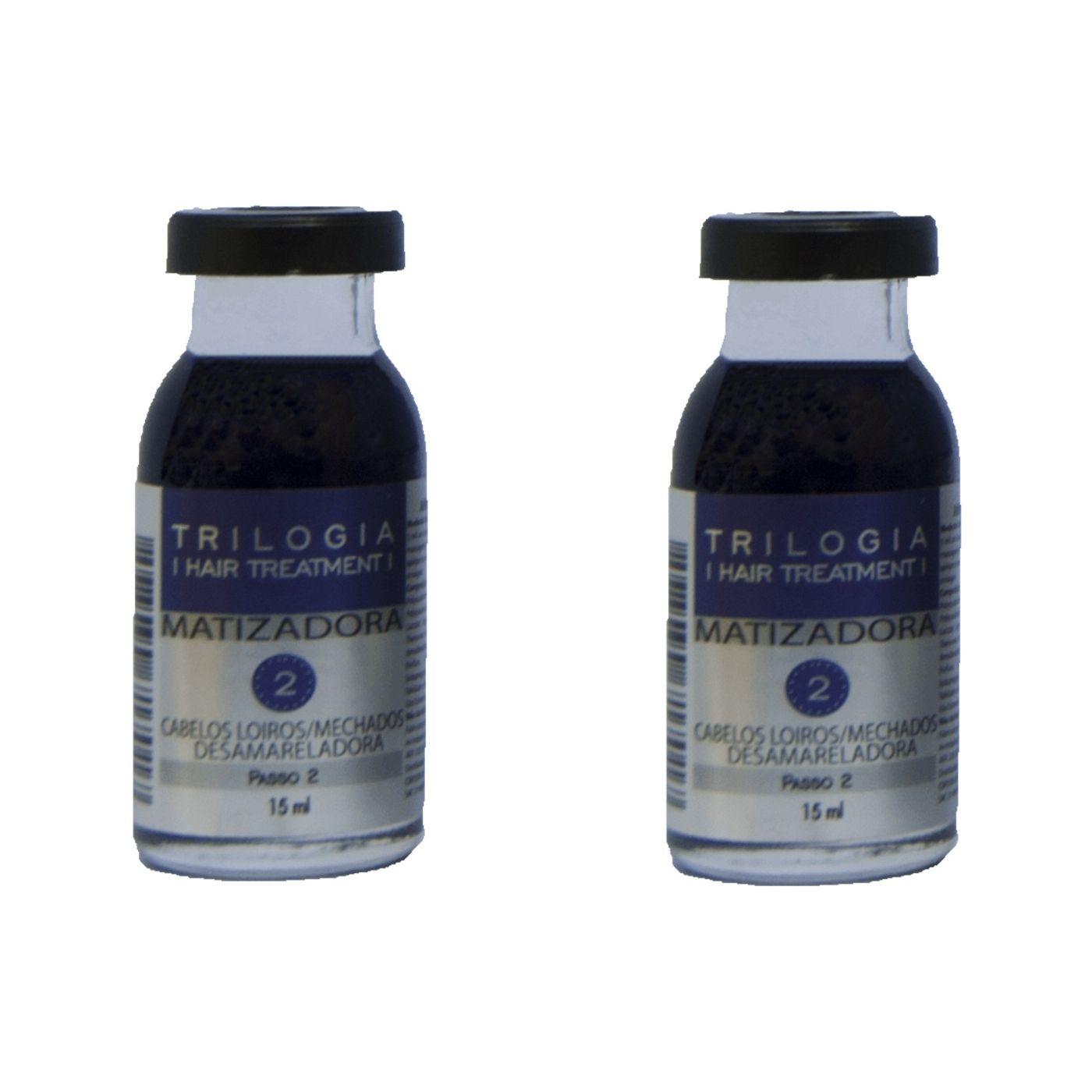 Ampola Matizadora Anti Oxidante Trilogia 15ml - 2 Unidades