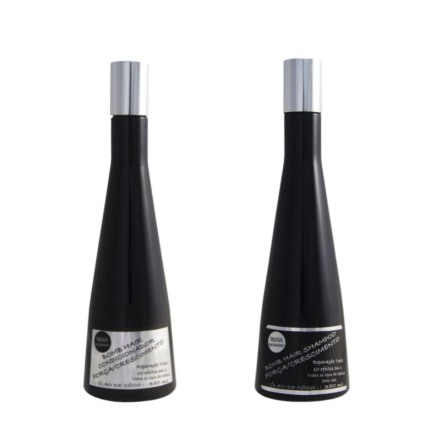 Kit Bomb Hair Trilogia (shampoo/condicionador)