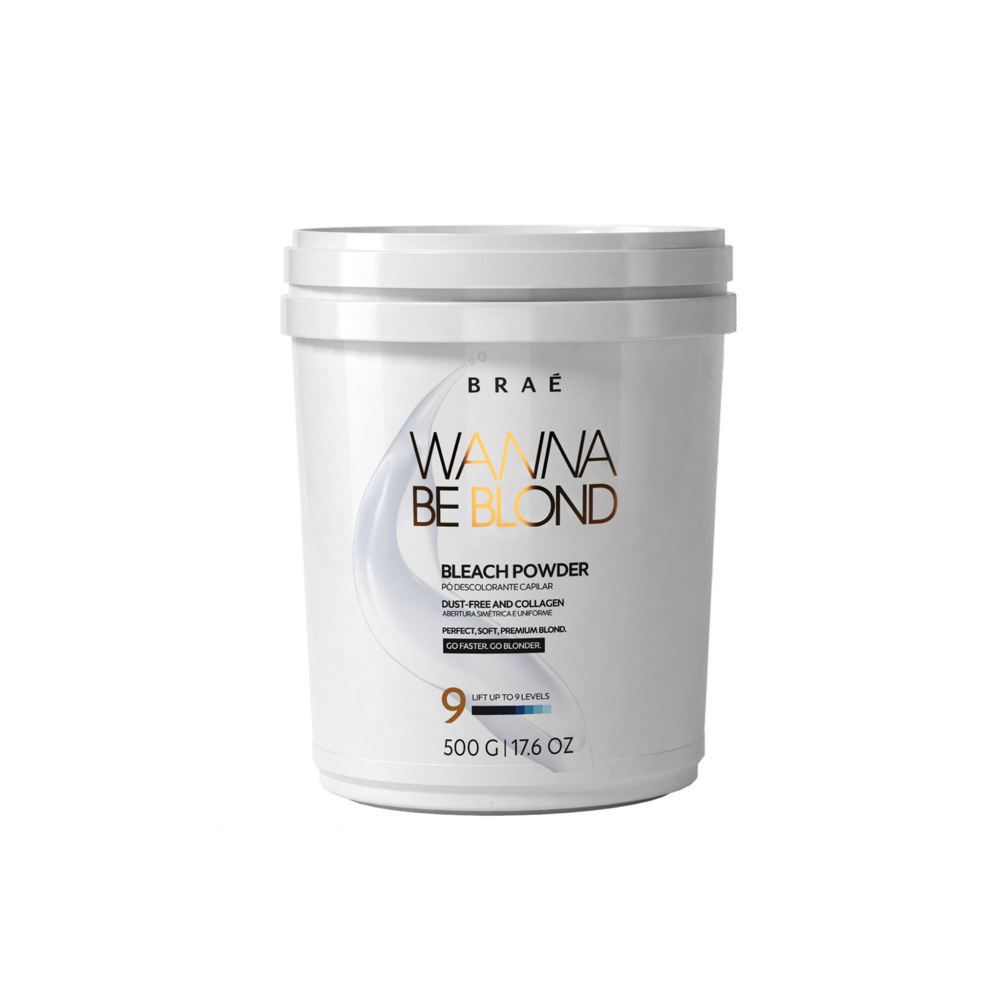 PÓ DESCOLORANTE BRAÉ WANNA BE BLOND - BLEACH POWDER 500 G