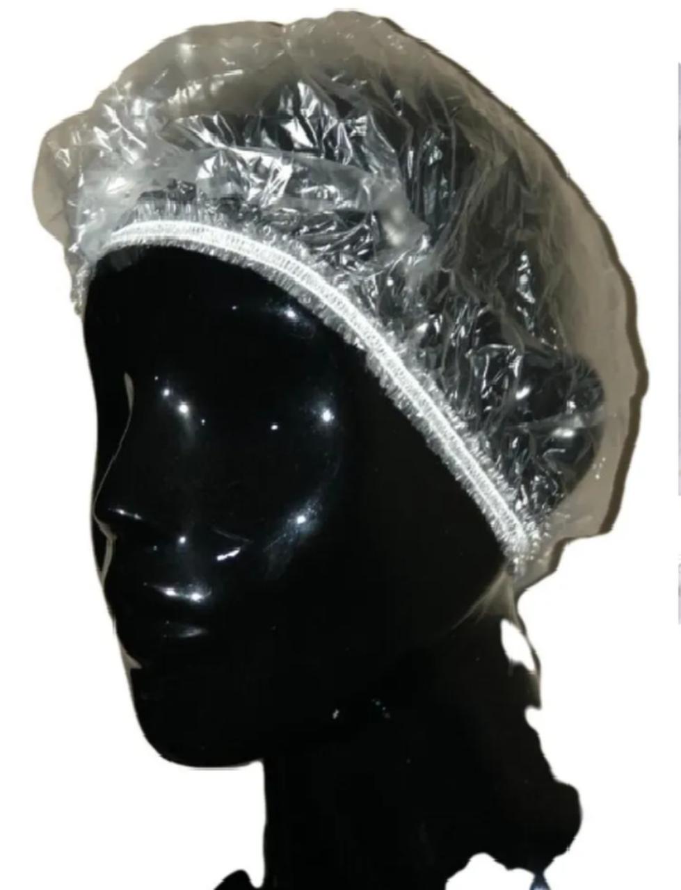 Touca Plástica Descartavel para Banho - pacote com 100 Unidades