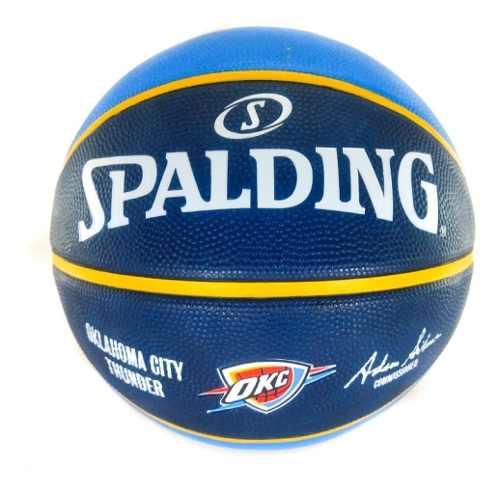 Bola de Basquete Spalding Oklahoma City Thunder NBA Azul/Marinho