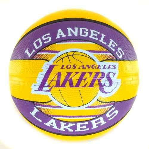 Bola de Basquete Spalding Los Angeles Lakers NBA Amarelo/Roxo