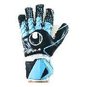 Luva de Goleiro Uhlsport Soft Hn Comp Campo Preto e Azul