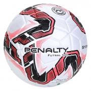 Bola De Futsal Penalty Storm Fusion X Branco e Vermelho