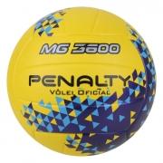 Bola De Penalty Vôlei MG 3600 Fusion VIII Amarelo e Azul