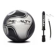 Bola Society Penalty 8 IX com Bomba de Inflar Poker - Kit