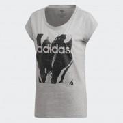 Camiseta Adidas AOP Tee Feminina Cinza e Preto
