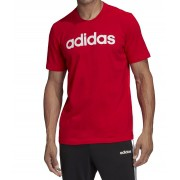 Camiseta Adidas Essentials Lin Masculina Vermelho e Branco