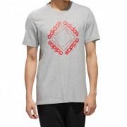 Camiseta Adidas Logo CBE Masculina Cinza e Vermelho