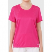Camiseta Nike Run Top Feminina Rosa Neon