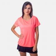 Camiseta Speedo Interlock Canoa Feminina Laranja Neon
