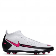 Chuteira Nike Phantom GT Club Branco e Pink