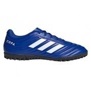 Chuteira Society Adidas Copa 20.4 TF Azul e Branco
