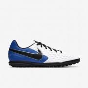 Chuteira Society Nike Legend 8 Club Branco, Azul e Preto