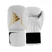 Luva Adidas Box Speed 50 Branco e Dourada