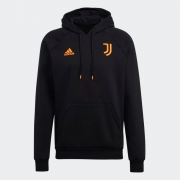Moletom Adidas Capuz Travel Juventus Preto e Laranja