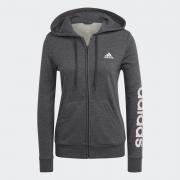 Moletom Adidas Linear Feminino Chumbo