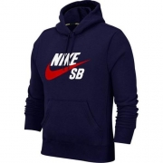 Moletom Nike SB Icon Hoodie Marinho, Branco e Vermelho