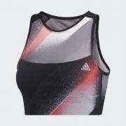 Top Adidas Unleash Confidence Preto, Vermelho e Branco