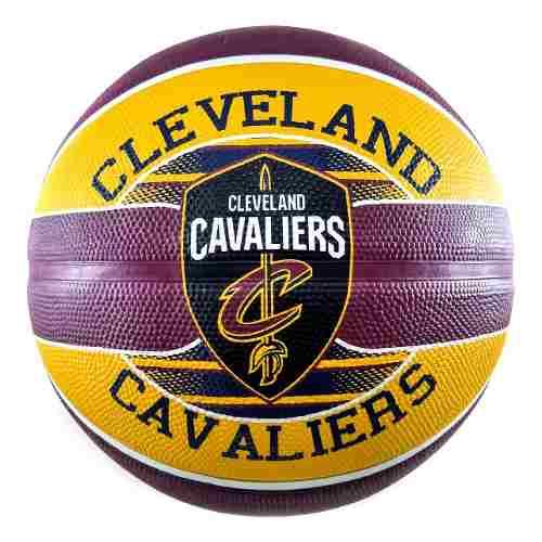 Bola de Basquete Spalding Cleveland Cavaliers NBA - Vinho/Amarelo