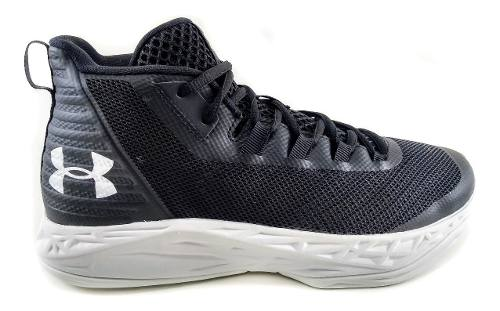 Tênis Under Armour Jet Mid Masculino Preto/Branco