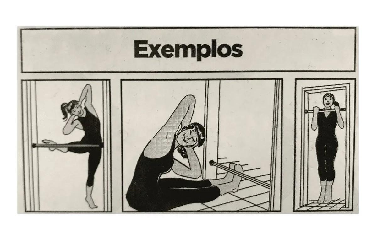 Barra de Exercícios para Porta Ajustável Cromada Polimet