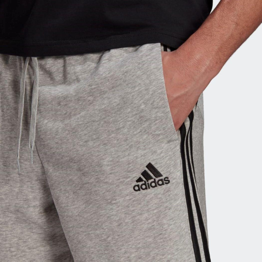 Bermuda Adidas  Essentials 3-Stripes Cinza e Preto