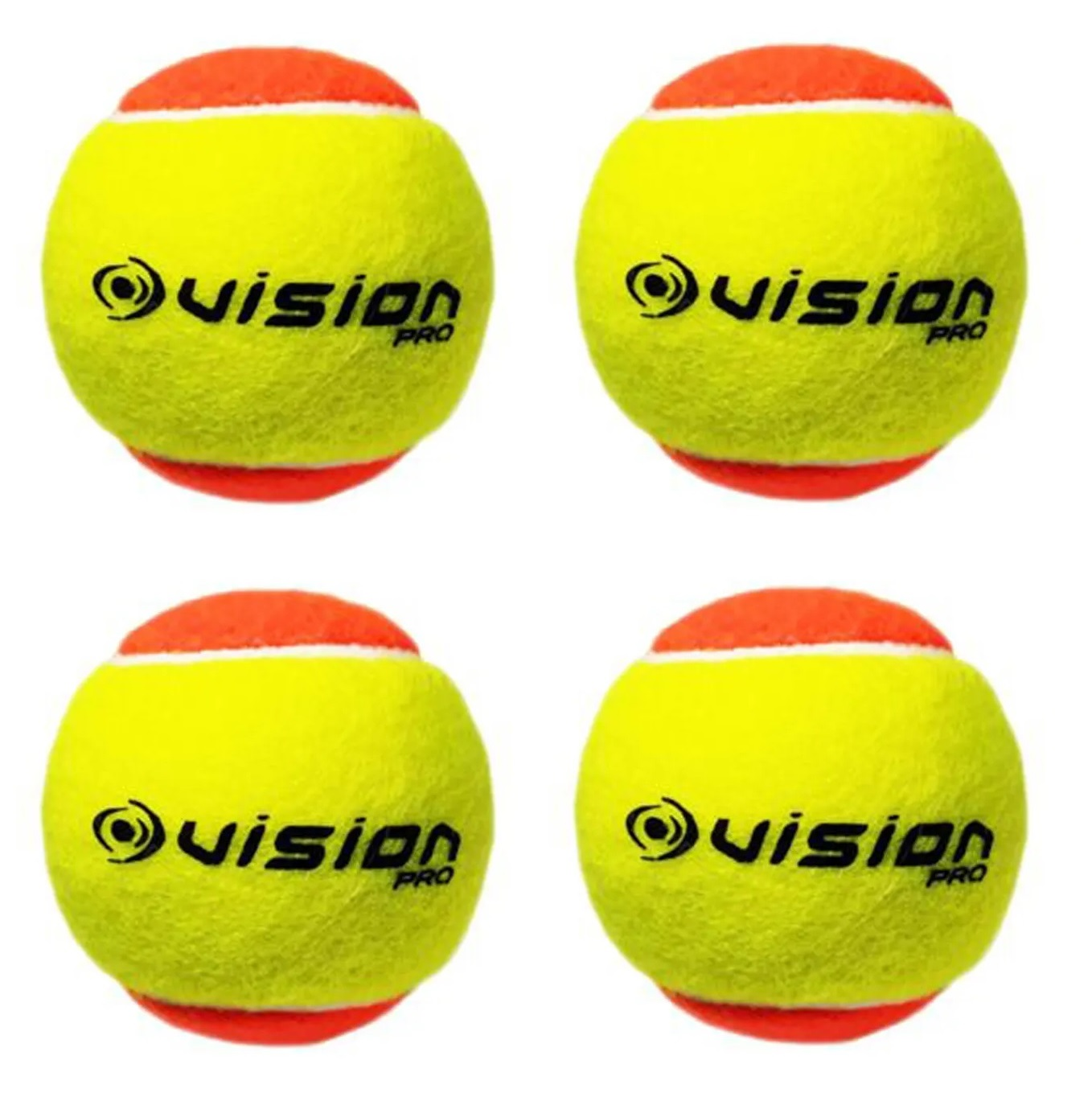 Bola Beach Tennis Vision Pro Kit c/ 4 Bolas