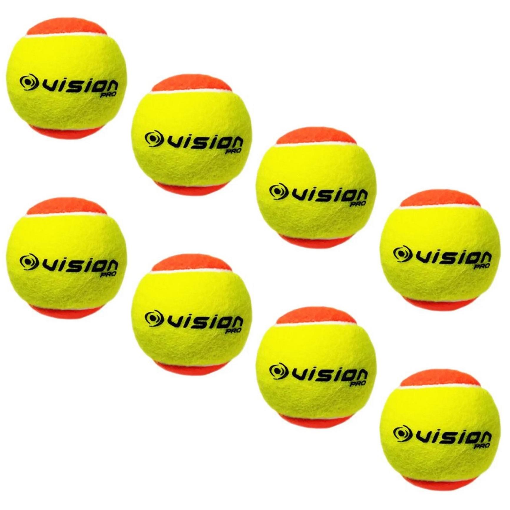 Bola Beach Tennis Vision Pro Kit c/ 8 Bolas