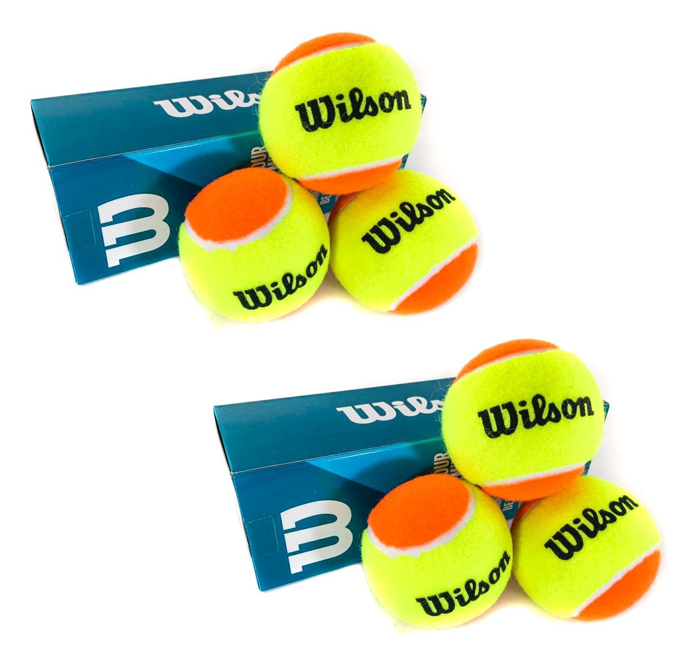 Bola Beach Tennis Wilson Tour Premier Kit c/ 6 Bolas