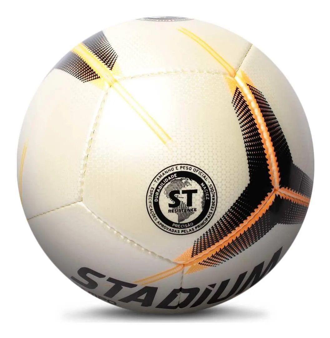 Bola Campo Stadium Ataque II IX Com Costura Branco e Preto