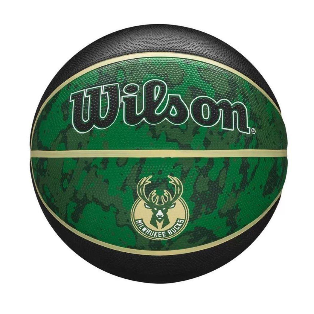 Bola de Basquete Wilson Milwaukee Bucks NBA Tiedye 7 Verde e Preto