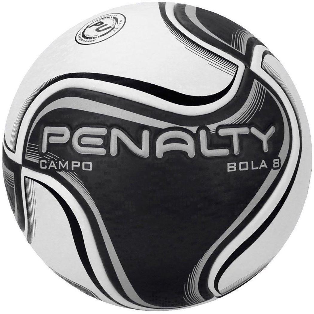 Bola De Futebol Campo Penalty 8 X Branco e Preto