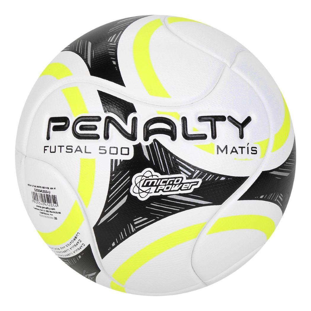 Bola De Futsal Penalty 500 Matis IX Branco e Amarelo