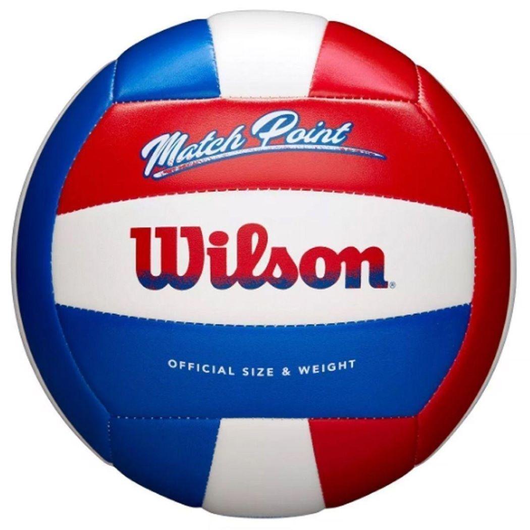 Bola De Vôlei Wilson Matchpoint Azul e Vermelho