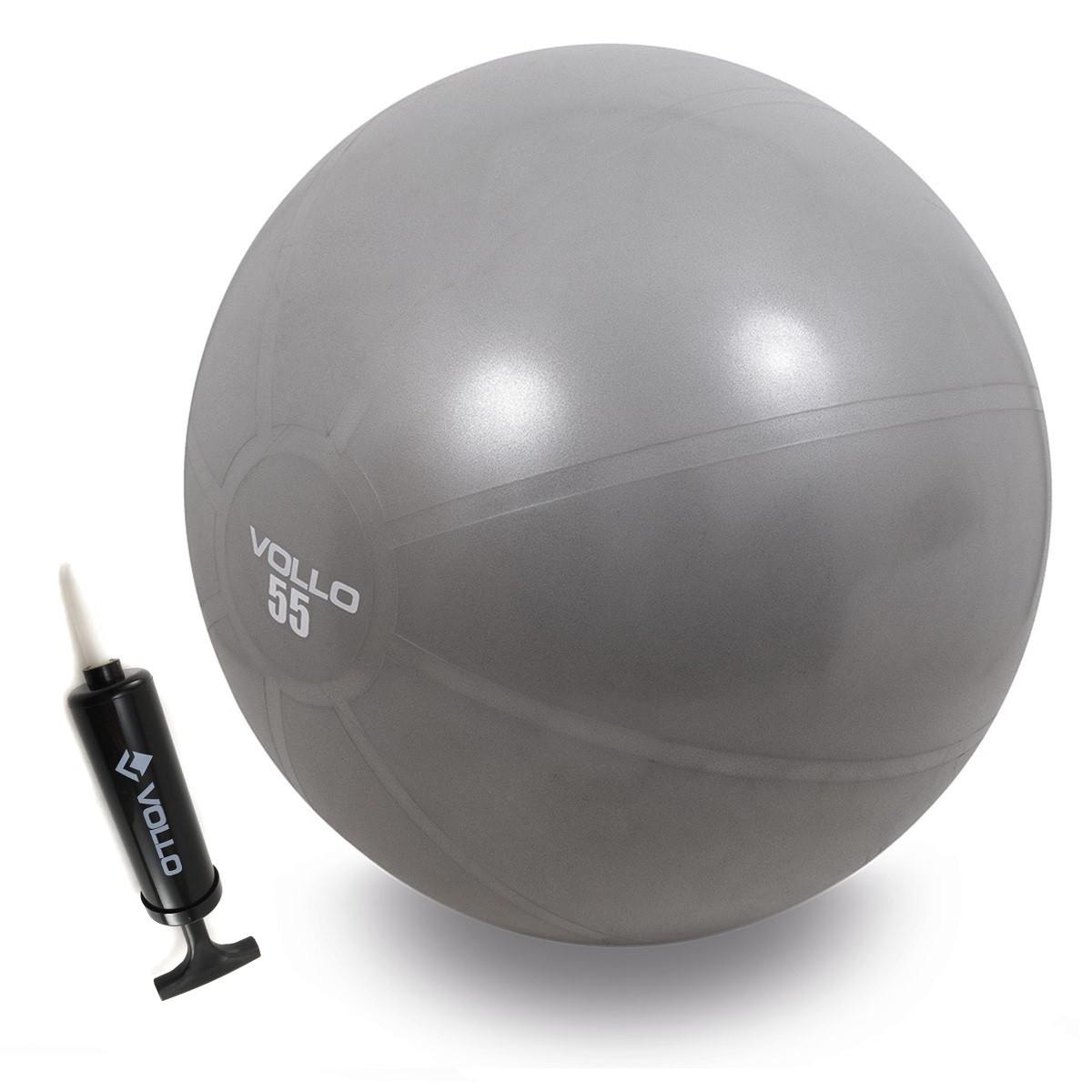 Bola Exercícios Academia Pilates Yoga Vollo com Bomba de Inflar