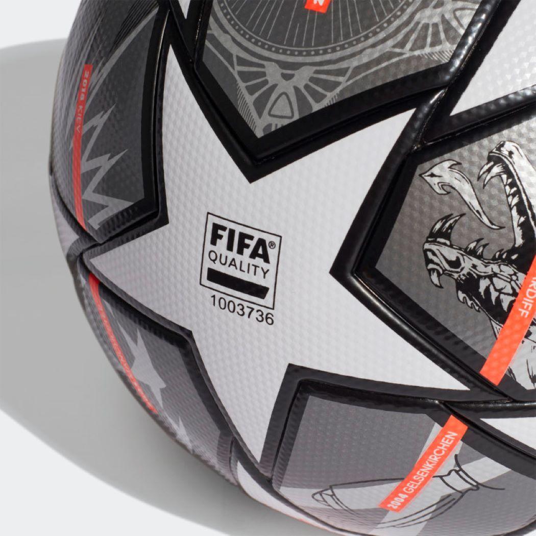 Bola De Futebol Campo Adidas UCL Finale League 21 Cinza e Laranja