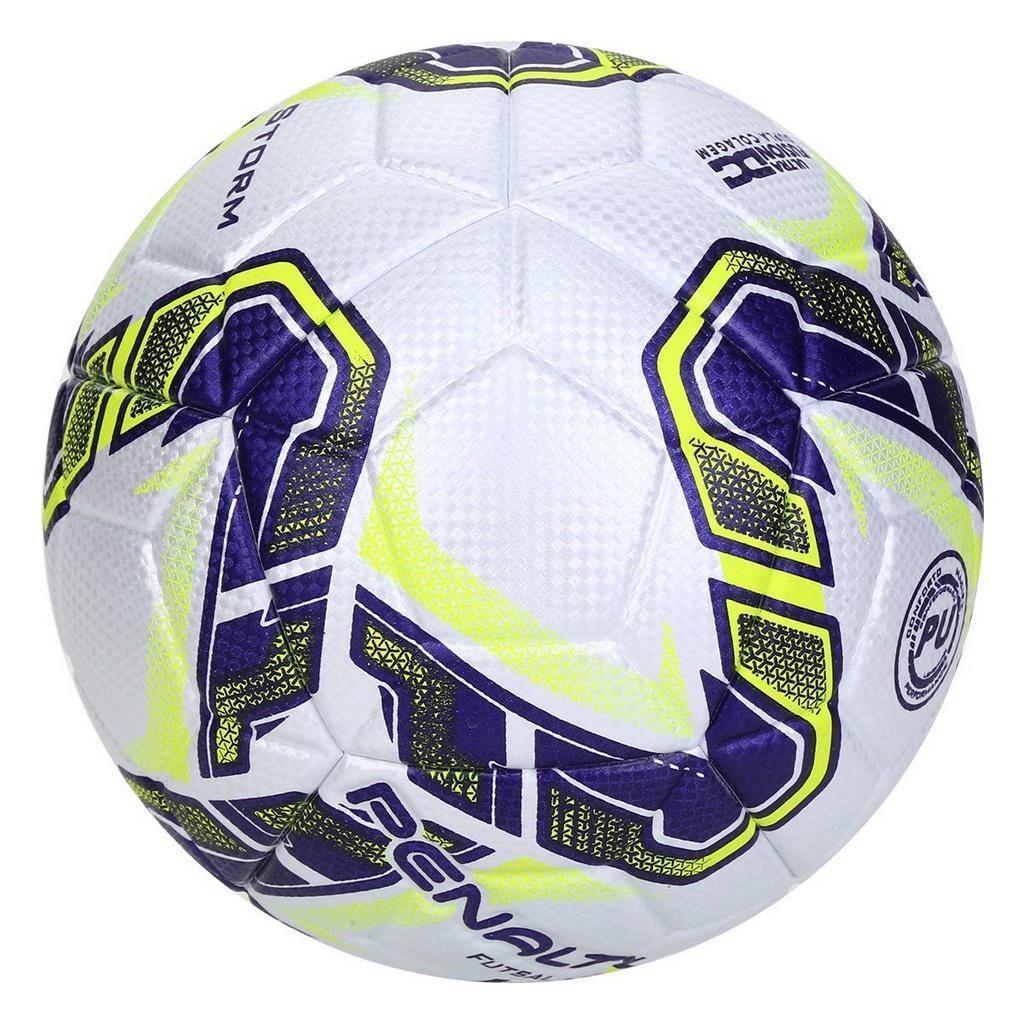 Bola De Futsal Penalty Storm Fusion X Branco e Azul