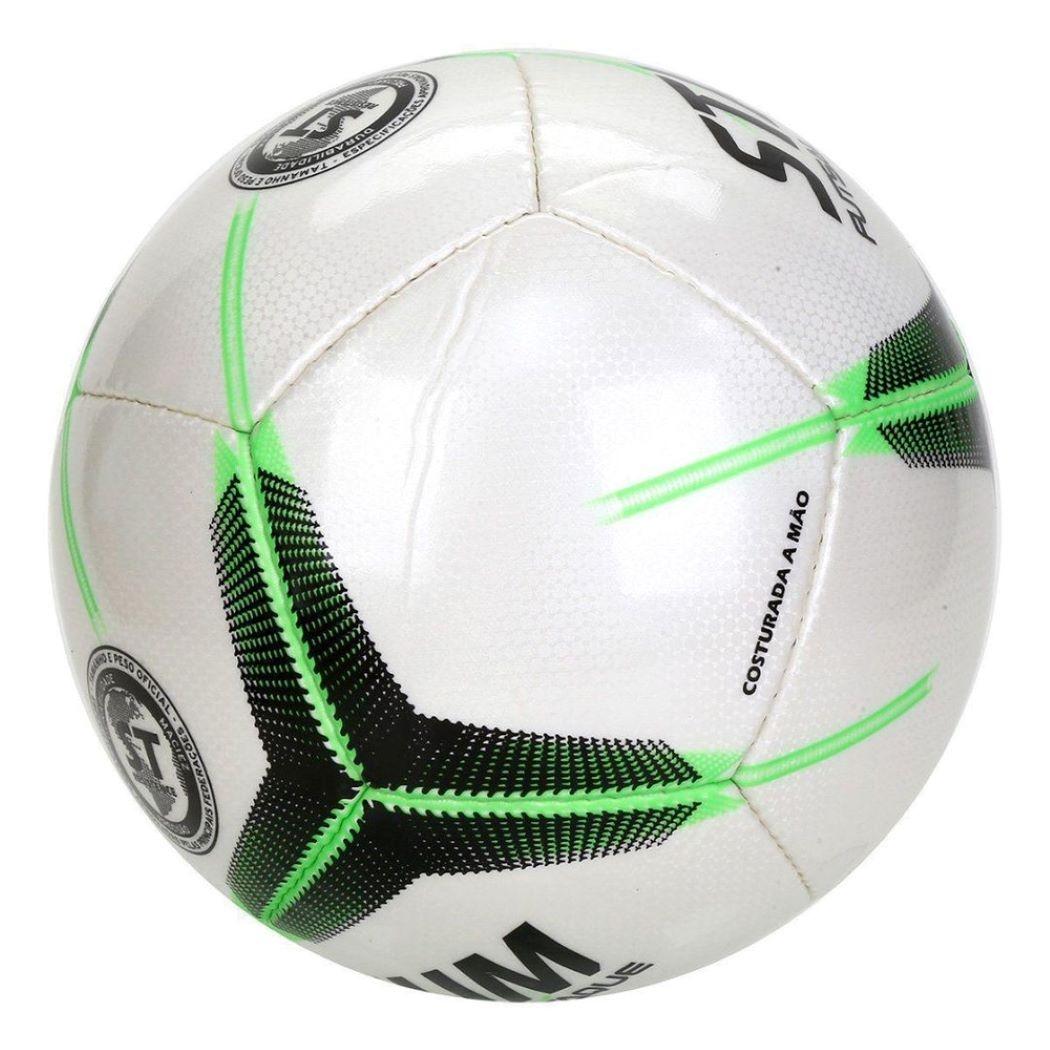 Bola De Futsal Stadium Ataque II Costurada a Mão Branco e Verde