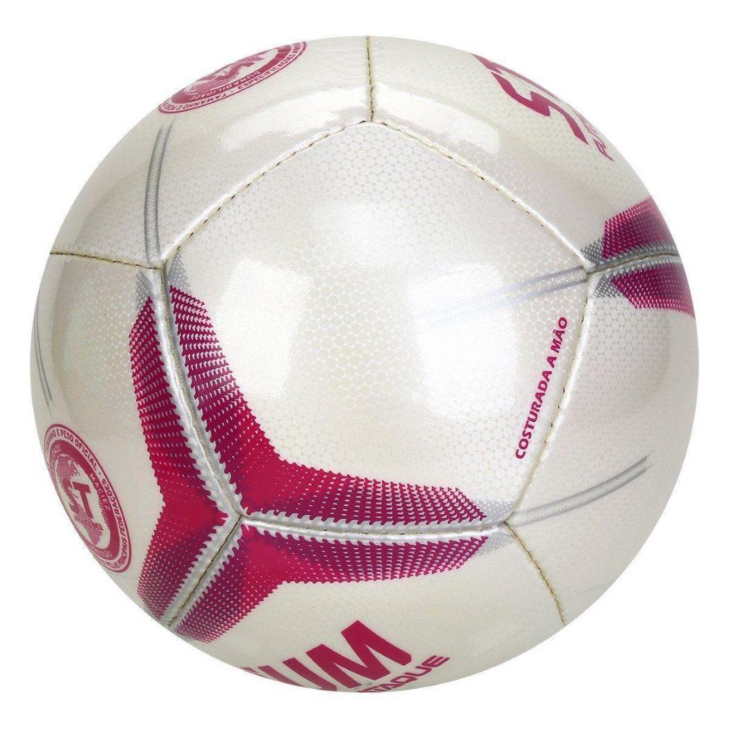 Bola De Futsal Stadium Ataque II IX Costurada a Mão Branco e Rosa