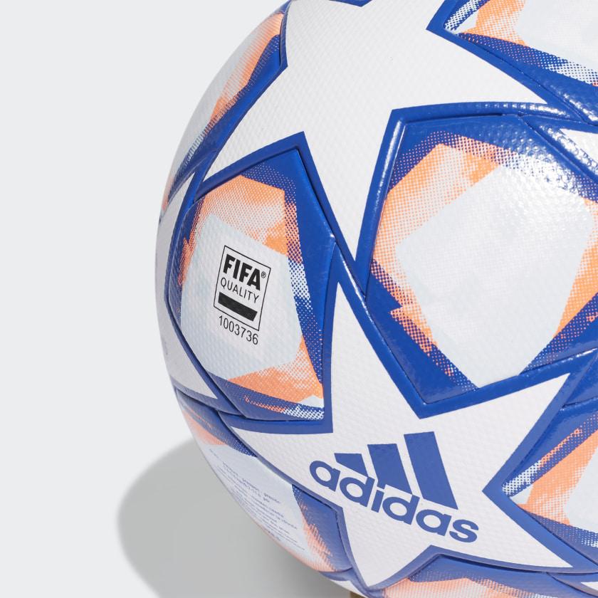 Bola De Society Adidas UCL Finale 20 Branco e Azul