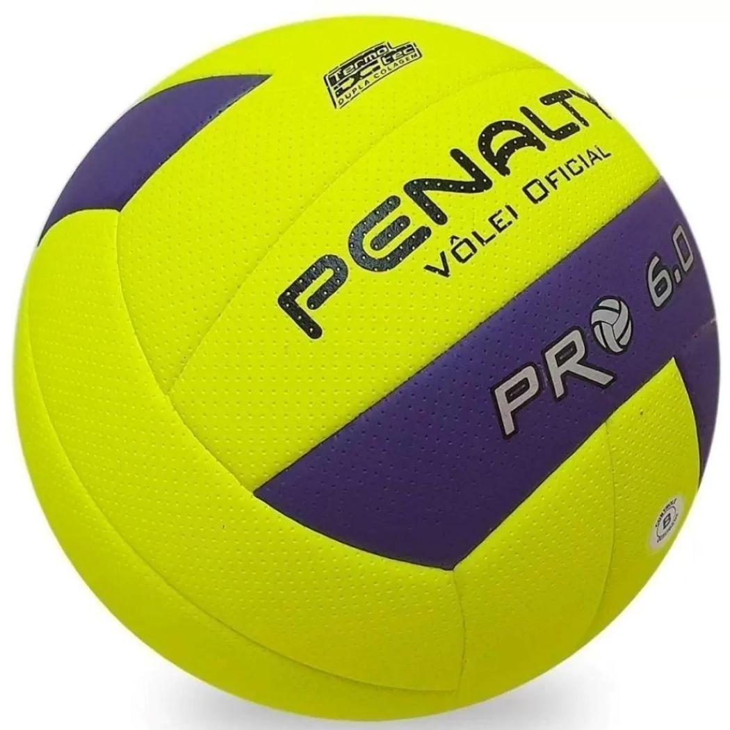Bola De Vôlei Penalty Pro 6.0 X Amarela e Roxo