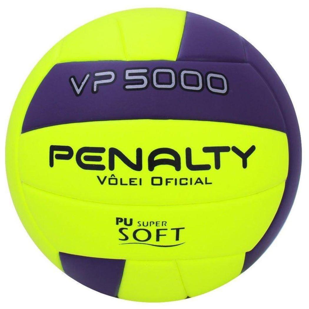 Bola De Vôlei Penalty VP 5000M X Amarela e Roxo