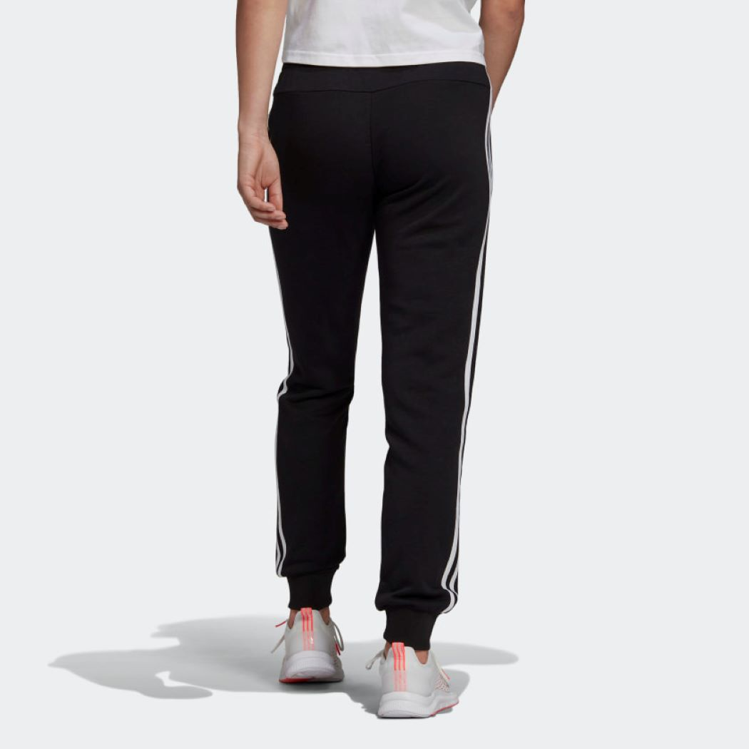 Calça Adidas Essentials French Terry Feminina Preto e Branco
